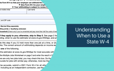 Understanding When to Use a State W-4