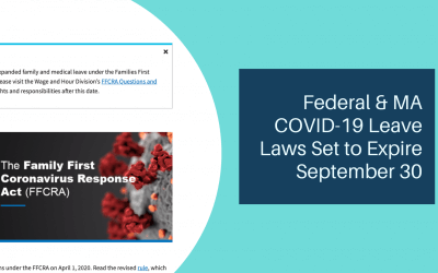 Federal & MA COVID-19 Leave Laws Set to Expire September 30